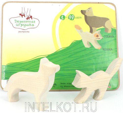 """Деревянная игрушка для малышей. Объемная раскраска """"Кошка ..."""