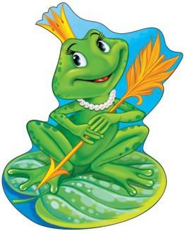 картинка лягушка-царевна для детей