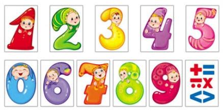 цветные картинки цифры для детей