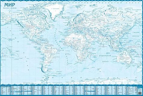Контурная Карта Мира Формат А4
