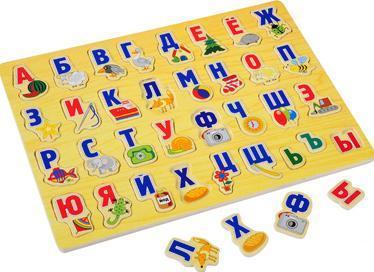 15ebb071f Алфавит в картинках. Рамка с вкладышами Б 030 Буратино. Игрушки для ...
