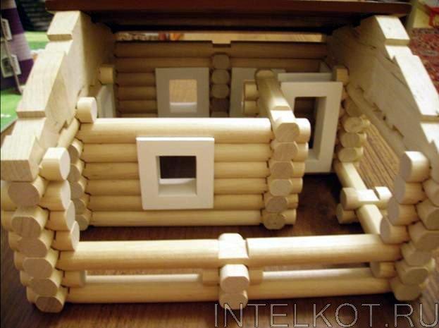 Видео как сделать дом из дерева