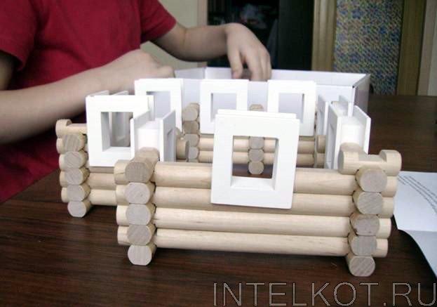 Деревянный конструктор бревнышки своими руками