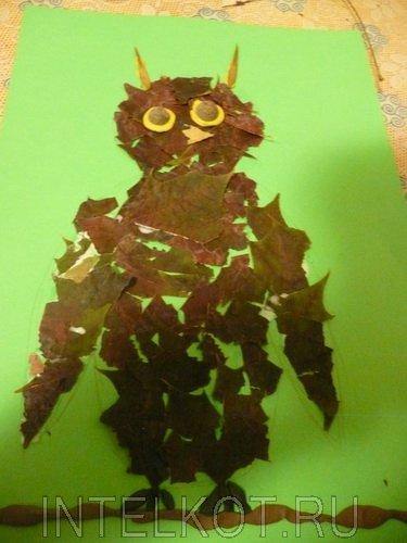 Делаем с детьми аппликации из листьев. Мастер класс от Ученого Кота