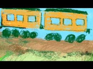 Детское творчество в поезде