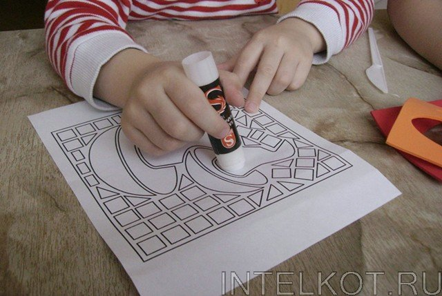 рисунки мозаикой: