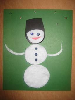 Снеговик -  поделка