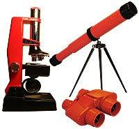 Детский микроскоп, телескоп и бинокль
