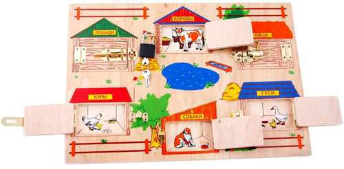 Замочки (деревянная доска с замочками): купить в интернет-магазине, цена, отзывы, фото | KupiTigra.ru - каталог детских товаров, купить товары для дет