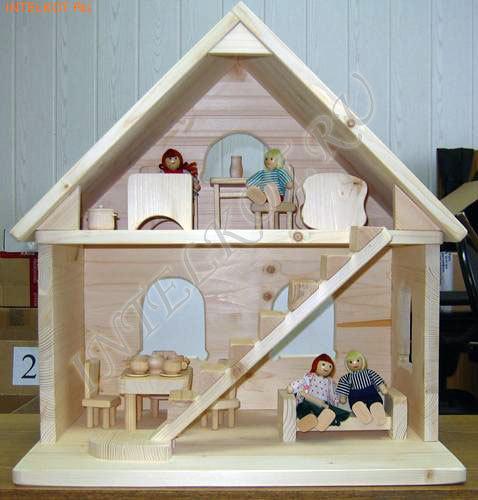 Игрушечный домик из фанеры своими руками