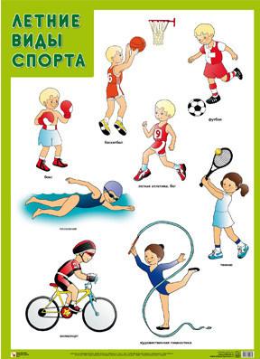 Раскраски летние виды спорта