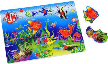 Рамки-вкладыши для детей с подслоем Морские животные
