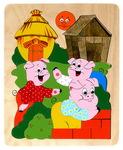 """Сюжетная мозаика-пазл """"Три поросенка"""". Деревянная игрушка ручной работы"""