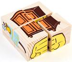 Деревянные кубики-пазл