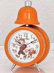 Детский оранжевый будильник для школьников с подсветкой и механическим звонком