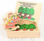 Временные отношения. Деревянные пазлы в ящичке. Обучающая игрушка для детей от 1 года до 6 лет