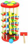 Стучалка с шариками на лестнице. Деревянная игрушка