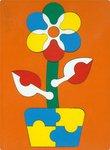 """Цветочек. Деревянная мозаика для детей из серии """"Сложи картинку"""""""