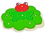 Лягушка. Объемный деревянный пазл для детей