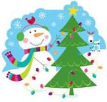 Подвеска «Веселый снеговик»
