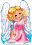 Рождественский ангел. Праздничный фигурный плакат