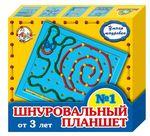 Шнуровальный планшет №1. Развивающая игрушка для детей