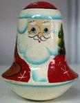 Дед Мороз. Деревянная расписная звенящая неваляшка
