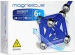 Магнитный конструктор Magneticus: 24 магнитные палочки и 10 стальных шариков
