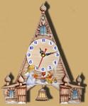 """Интерьерные настенные часы ручной работы с маятником """"Храм"""""""