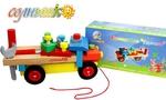 """Многофункциональная деревянная игрушка для малышей. Конструктор """"Грузовик"""""""