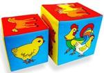 """Развивающая игрушка для малышей. Кубики """"Чей детеныш"""""""