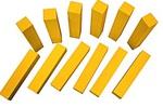 Желтые счетные палочки из дерева 12 шт.