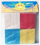 Набор деревянных счетных палочек. 40 штук, 4 цвета