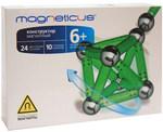 Магнитный конструктор Magneticus: 24 зеленых магнитных палочки и 10 стальных шариков