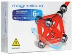 Магнитный конструктор Magneticus. 34 элемента (красные магнитные палочки и стальные шарики)