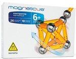 Магнитный конструктор Magneticus: желтые магнитные палочки и стальные шарики. 34 элемента