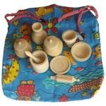 Набор деревянной посуды в мешочке