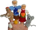 Курочка Ряба. Набор вязаных куколок для пальчикового театра