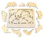 Слоны. Необычная головоломка ручной работы