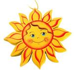 """Подвесная фигурка из дерева """"Солнце"""""""