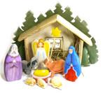 """Сюжетная композиция """"Рождество. Хлев"""". Набор деревянных фигурок ручной работы"""