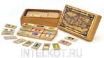 """Мемори """"Континенты: Африка"""". Подарочный комплект деревянных карточек в футляре"""