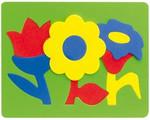 Цветы. Мягкий конструктор-мозаика для малышей