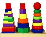 Геометрические пирамидки. Развивающая игрушка для детей