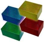 Подарочная коробка-трансформер с голографической печатью 19х19х13 см