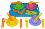 Набор детской посуды Минутка с подносом на 4 персоны