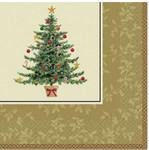 Рождественская елка. Набор бумажных салфеток. 16 штук