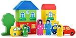 """Строительный конструктор для детей """"Цветной городок"""""""
