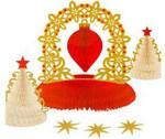 Ажурные елочки. Декоративное украшение на новогодний стол