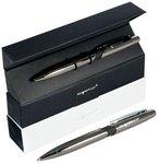 Автоматическая шариковая ручка Strict. Темно-серый металлический корпус. Подарочная упаковка